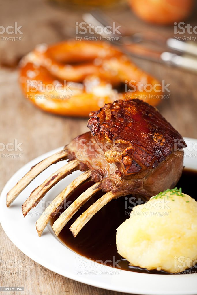 roasted suckling pig meal royalty-free stock photo
