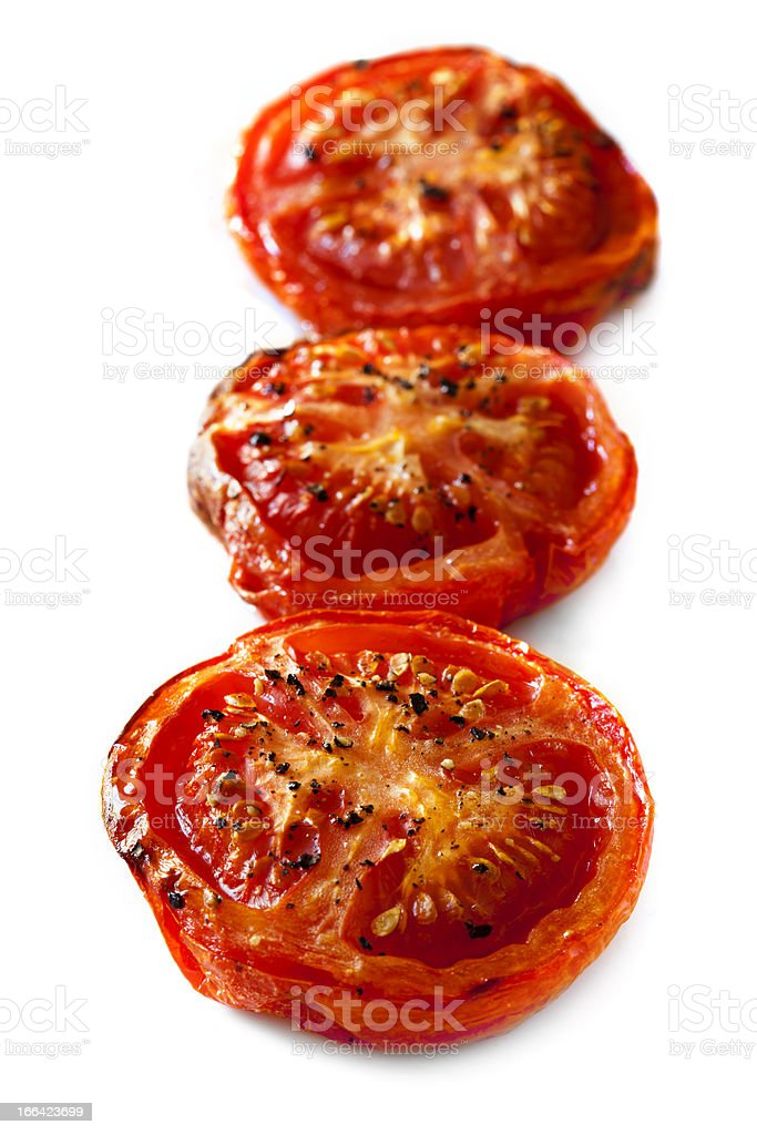 Roasted Tomatoes Isolated stock photo