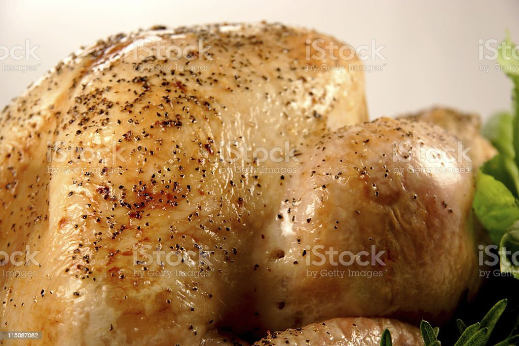 roasted turkey baked (holiday series) royalty-free stock photo