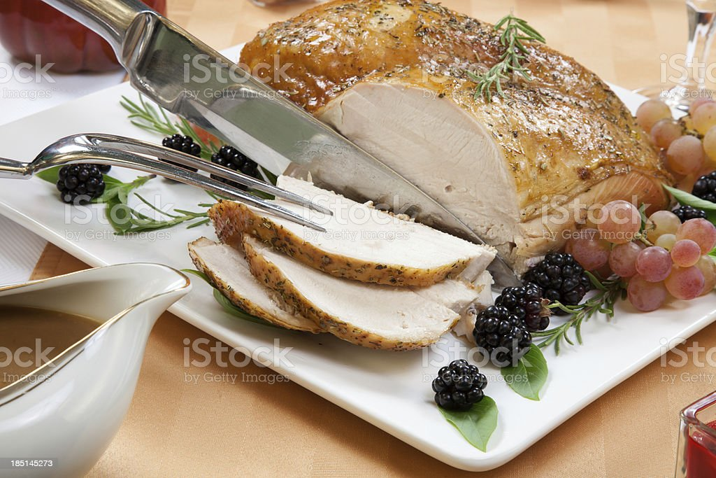 Roasted Turkey Breast - Rosemary-Basil Rub stock photo
