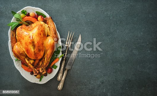 istock Roasted turkey for Thanksgiving Day or Christmas 858959582