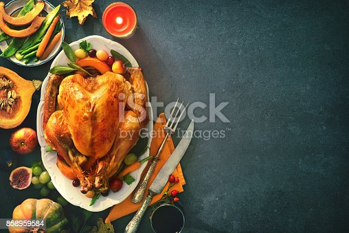 istock Roasted turkey for Thanksgiving Day 858959584