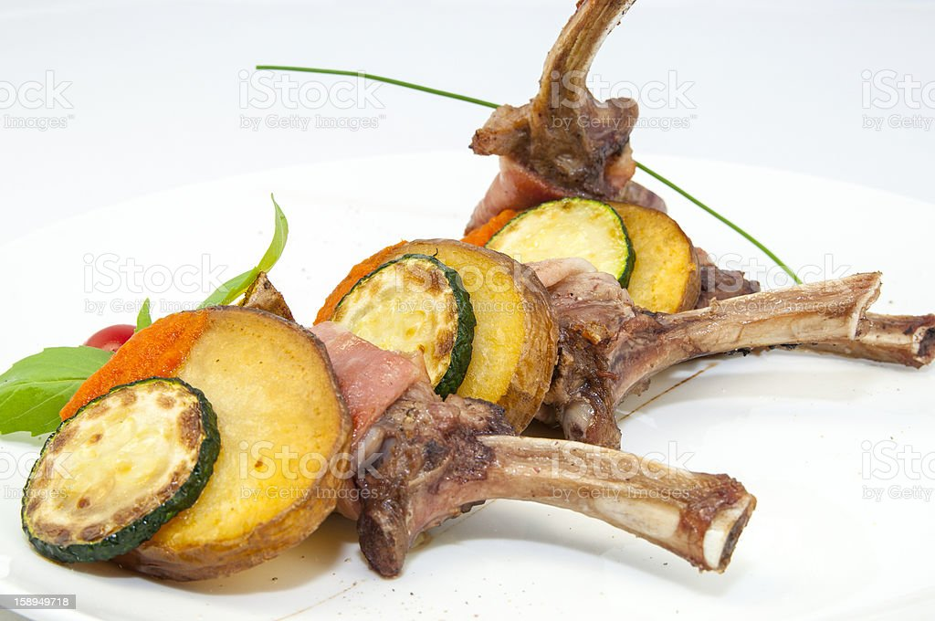 roasted veal rib royalty-free stock photo