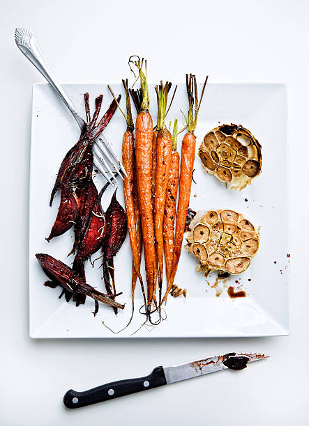 Roasted vegetable stock photo