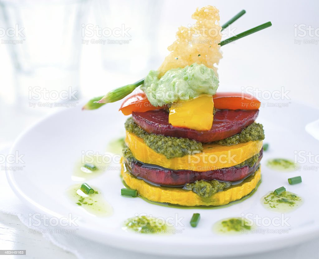 Roasted Vegetable Stack royalty-free stock photo