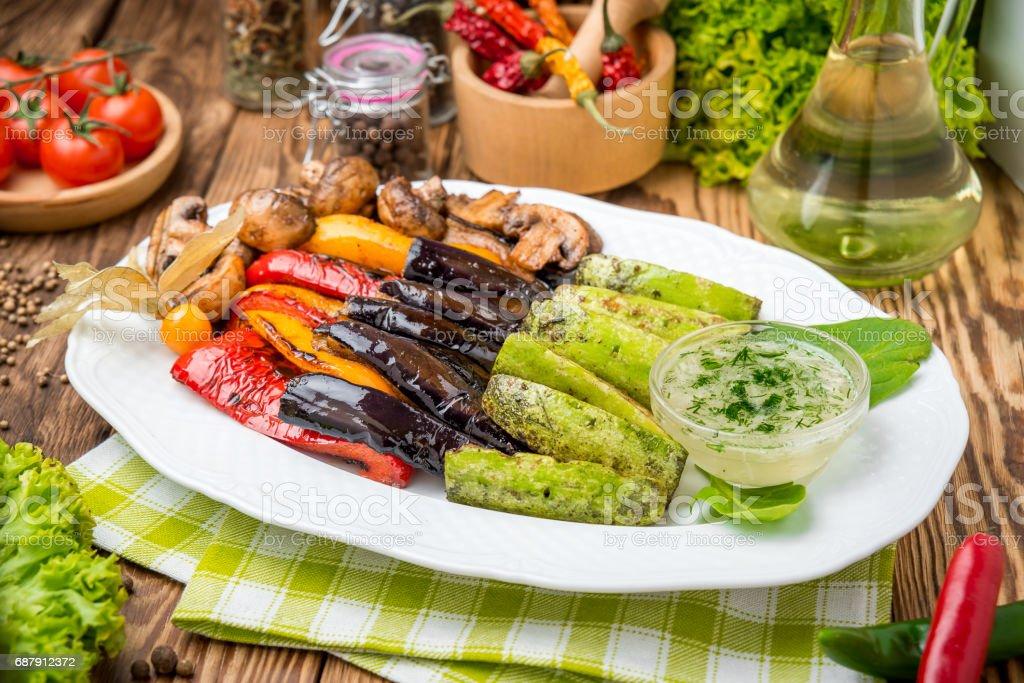 Gebratenes Gemüse auf dem grill – Foto