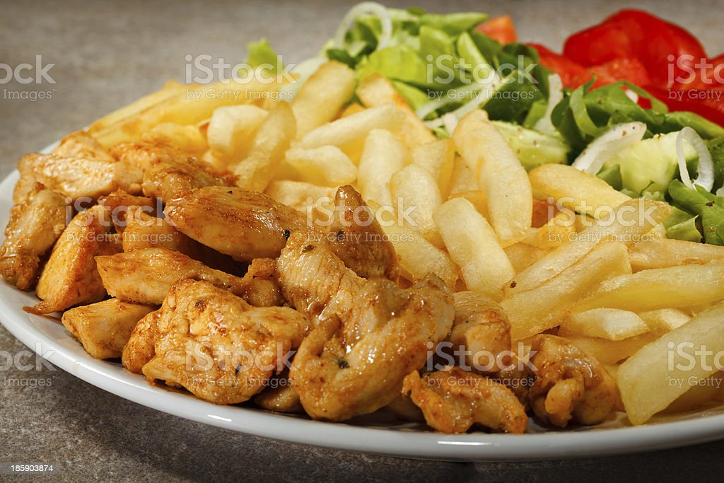 Roasted white meat with vegetables royalty-free stock photo