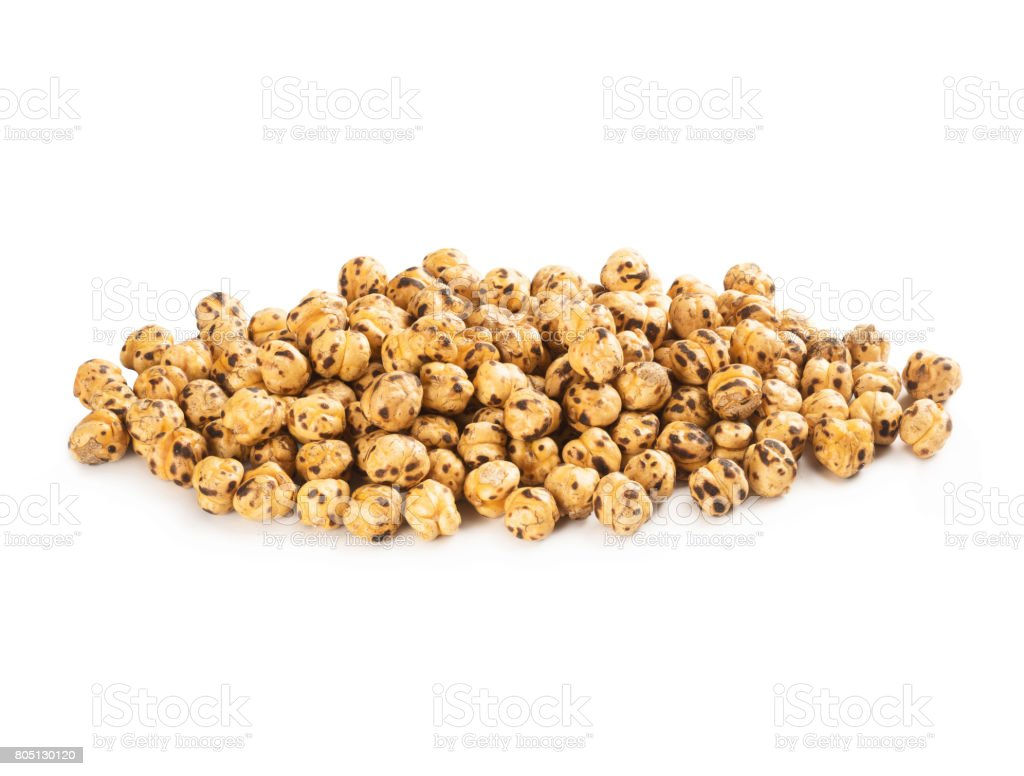 Roasted Yellow Chickpeas stock photo