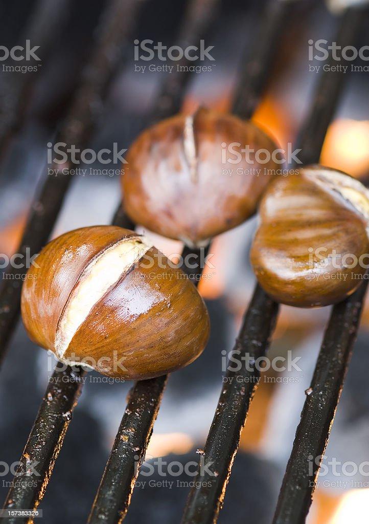 Roasting chestnuts - I royalty-free stock photo