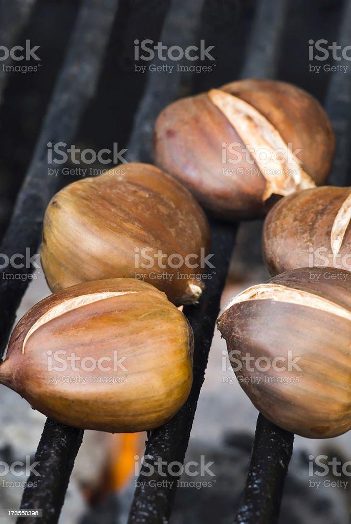 Roasting chestnuts - II royalty-free stock photo