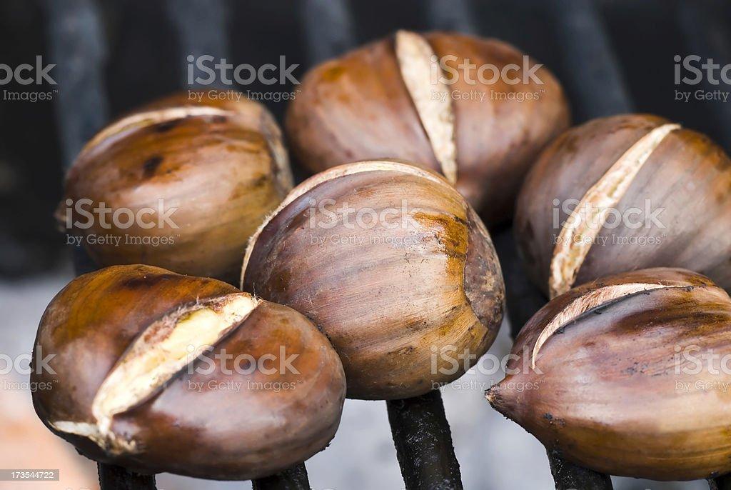 Roasting chestnuts - IV royalty-free stock photo