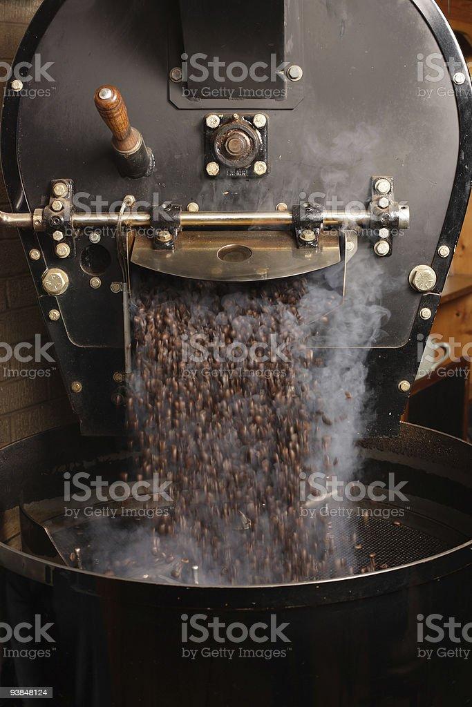 Roasting coffee beans royalty-free stock photo