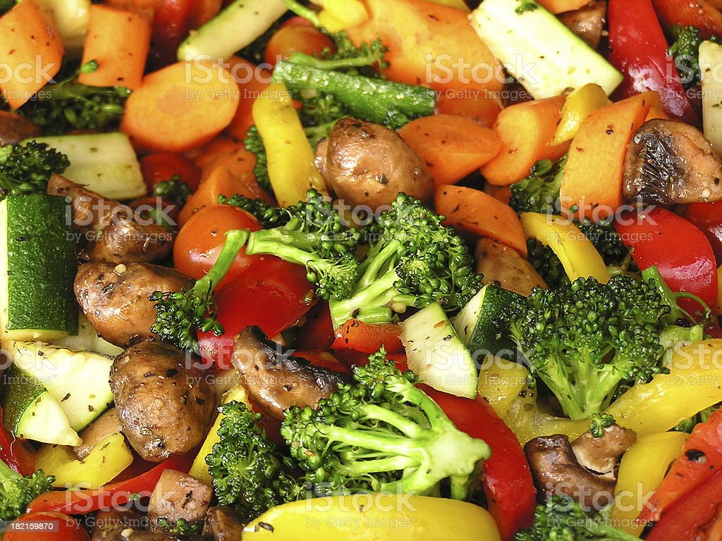 Roasting Vegetables on the Grill royalty-free stock photo