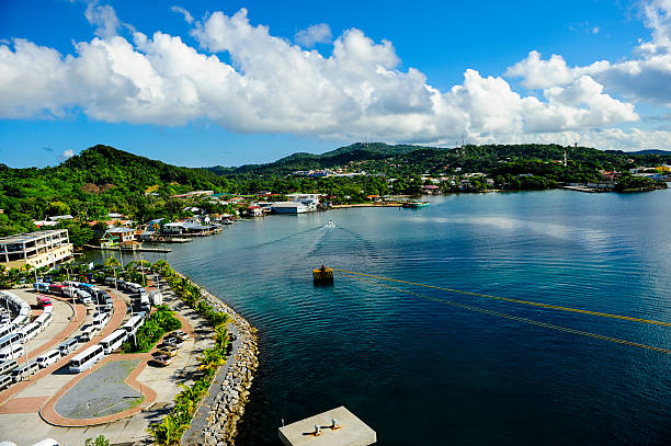 Roatan Honduras View from a cruise ship docked at Roatan Honduras roatan stock pictures, royalty-free photos & images
