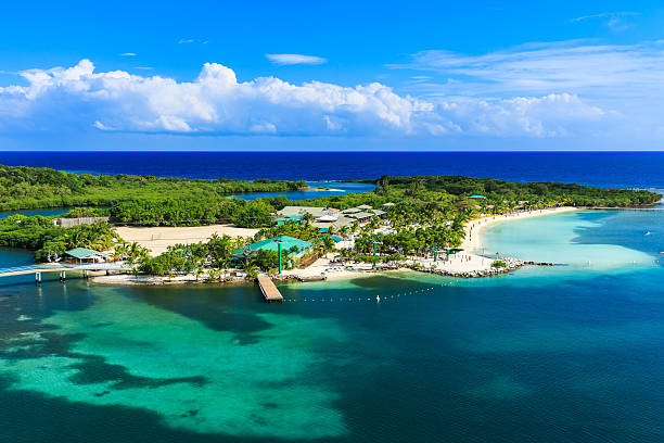 Roatan, Honduras Panoramic view of the Roatan Island, Honduras roatan stock pictures, royalty-free photos & images