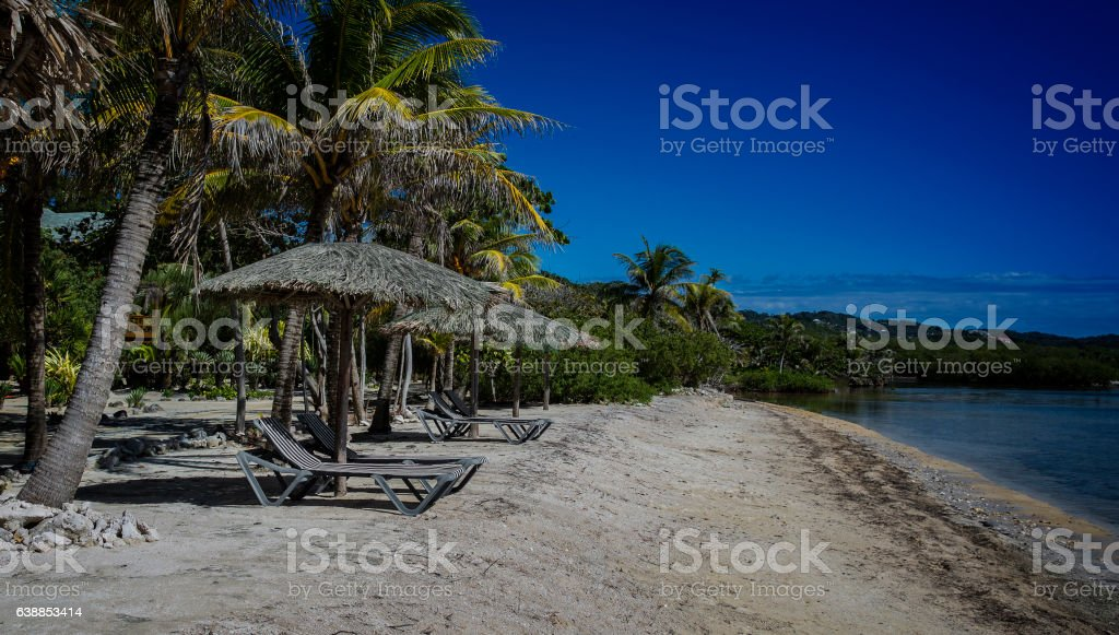 Roatan Hondures Beach stock photo