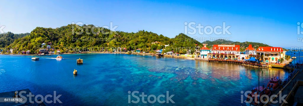 Roatan island Coxen Hole  Hunduras 2016 stock photo