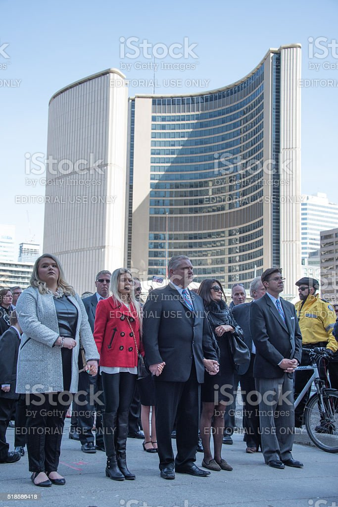 Rob Ford Funeral stock photo