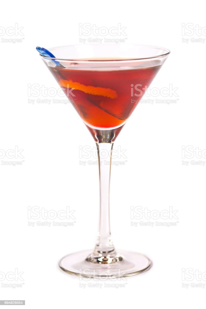 Rob Roy cocktail stock photo