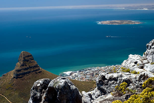 robben island - table mountain national park stock pictures, royalty-free photos & images