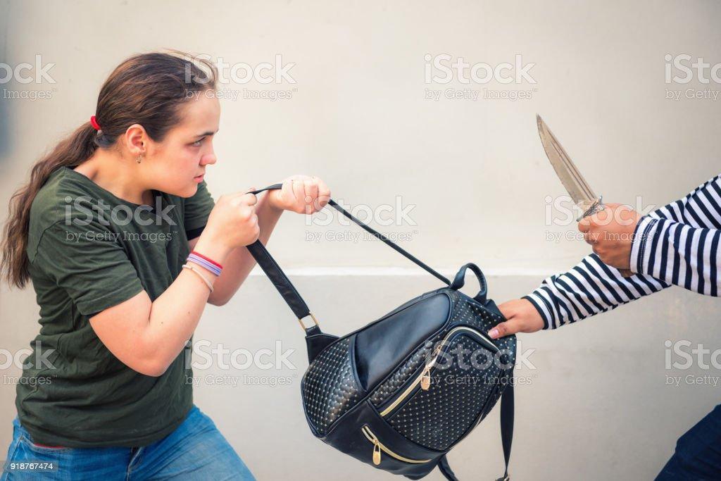 Hombre Bolso Las Mujeres Arrebata Fotografía El De Ladrón Uwp4Uxq7