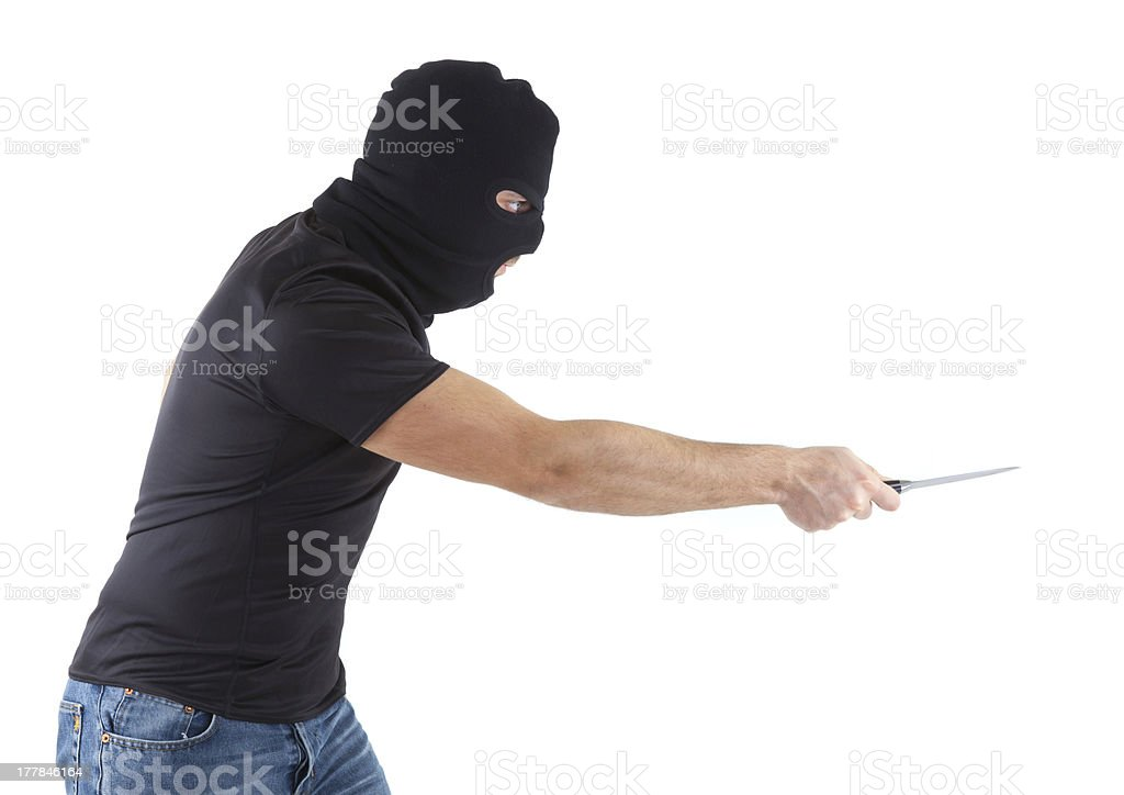 Robber with masked stock photo