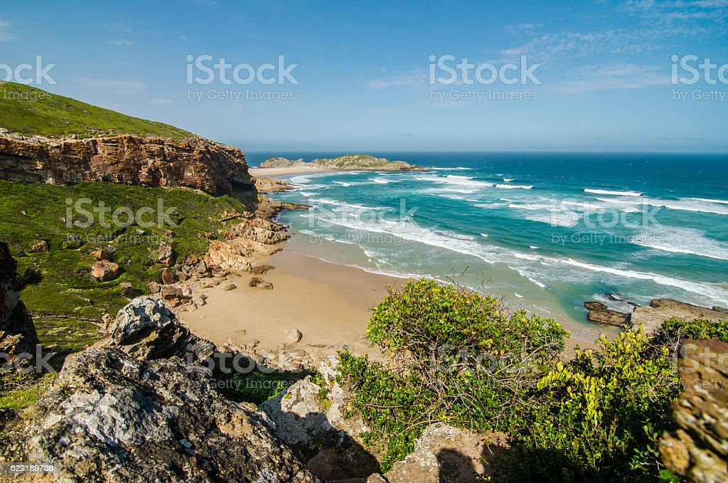 Robberg Nature Reserve, beach indian ocean, Garden route. South Africa stock photo