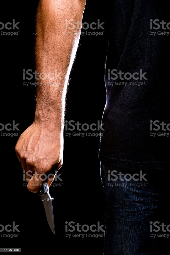 Robbery at Knifepoint stock photo