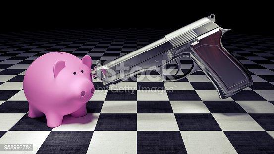 istock robbing the piggy bank concept 3d render 958992784