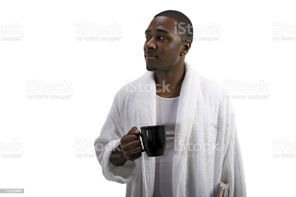 Robe & Coffee royalty-free stock photo