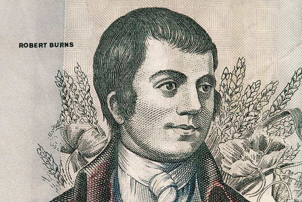 Robert Burns as depicted on a Scottish Banknote. stock photo