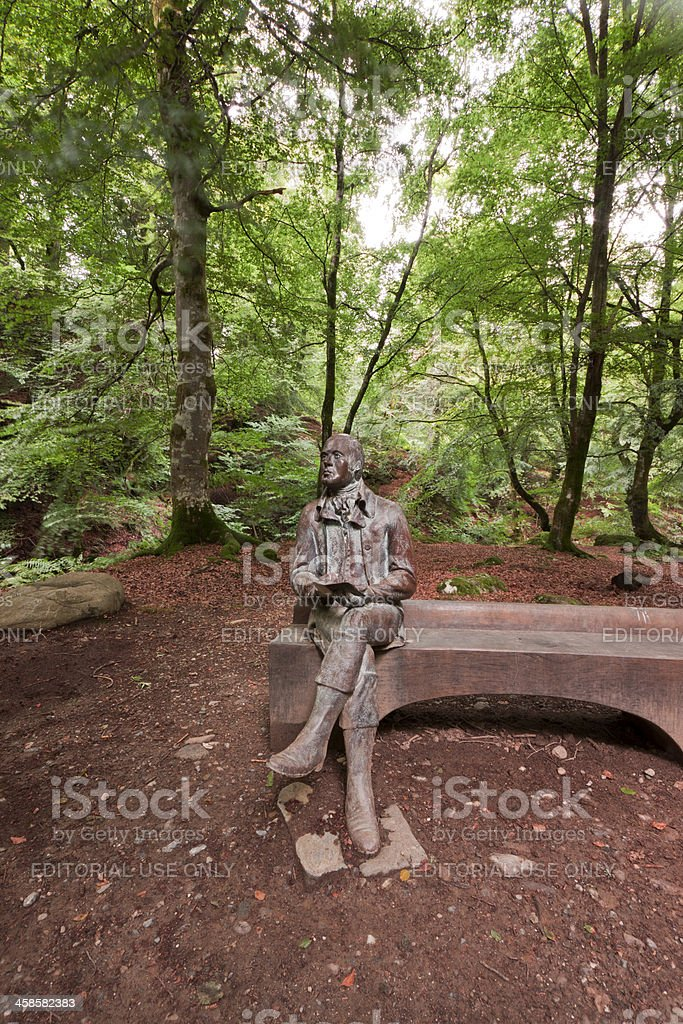 Robert Burns Statue near Aberfeldy. stock photo