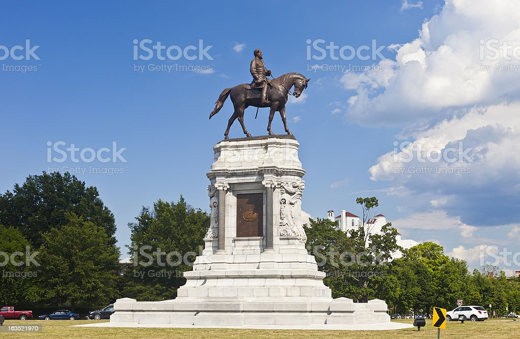 Robert E. Lee Monument In Richmond, Virginia stock photo