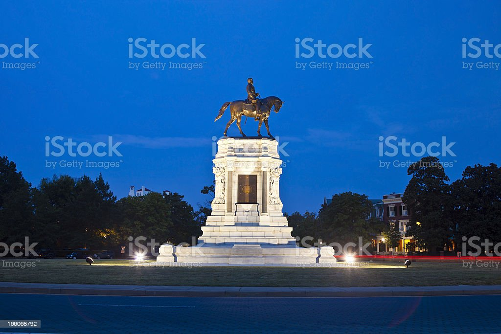 Robert E. Lee Monument In Richmond, Virginia royalty-free stock photo