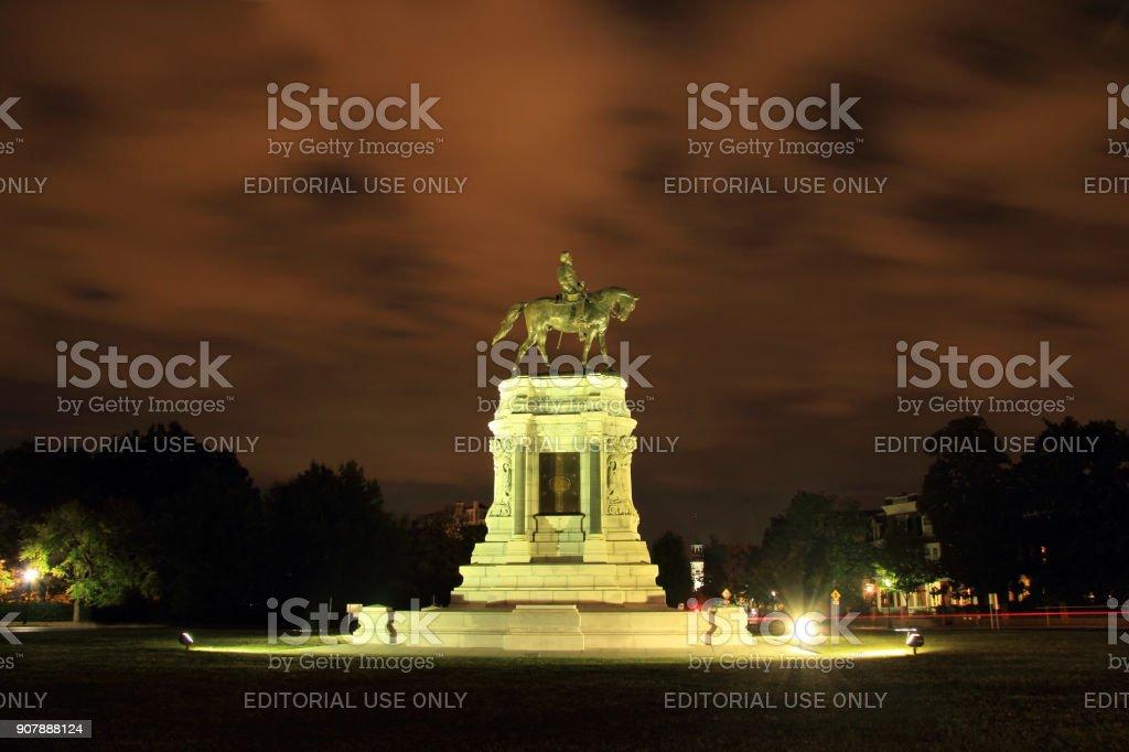 Robert E. Lee Monument stock photo