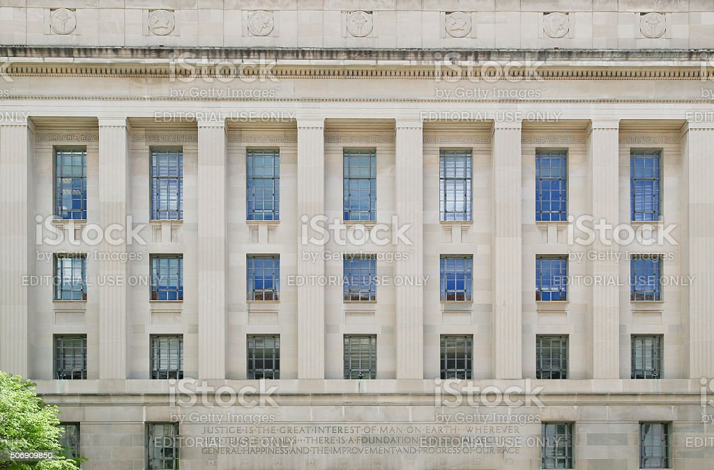 Robert F. Kennedy Department of Justice Building stock photo