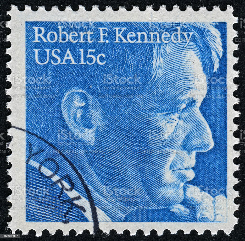 Robert F. Kennedy Stamp royalty-free stock photo