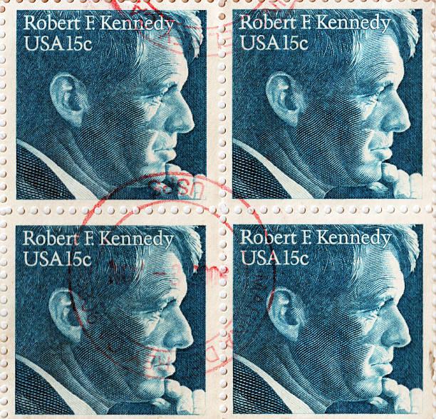 Robert F. Kennedy U.S.A. Postage Stamp stock photo