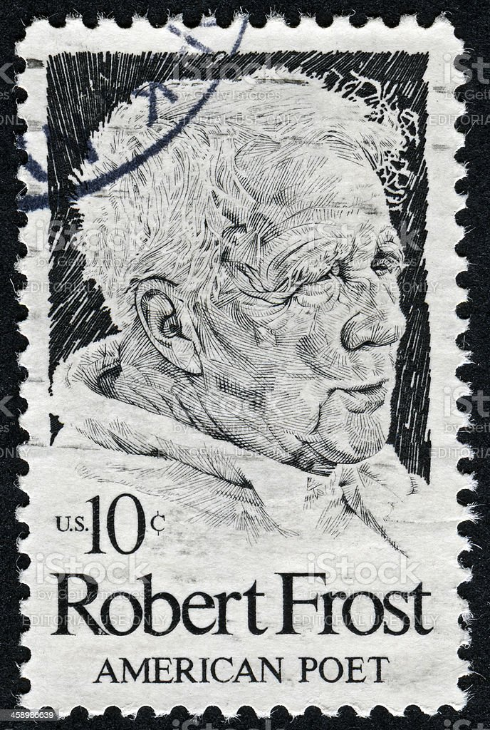 Robert Frost Stamp royalty-free stock photo