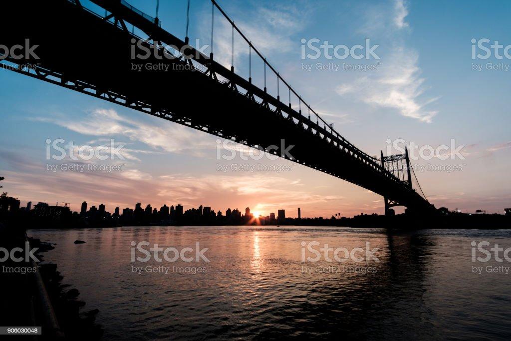 Robert Kennedy Bridge before sunset stock photo