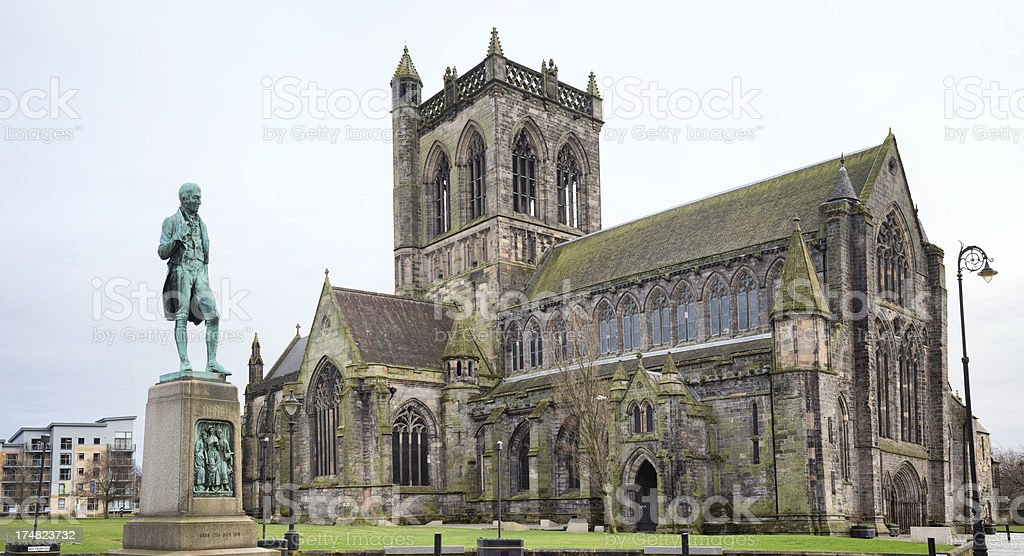 Robert Tannahill and Paisley Abbey stock photo