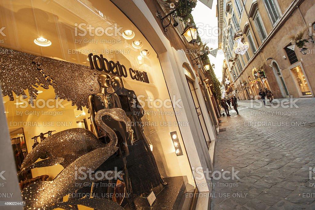 Roberto Cavalli store in Via Frattina, Rome royalty-free stock photo