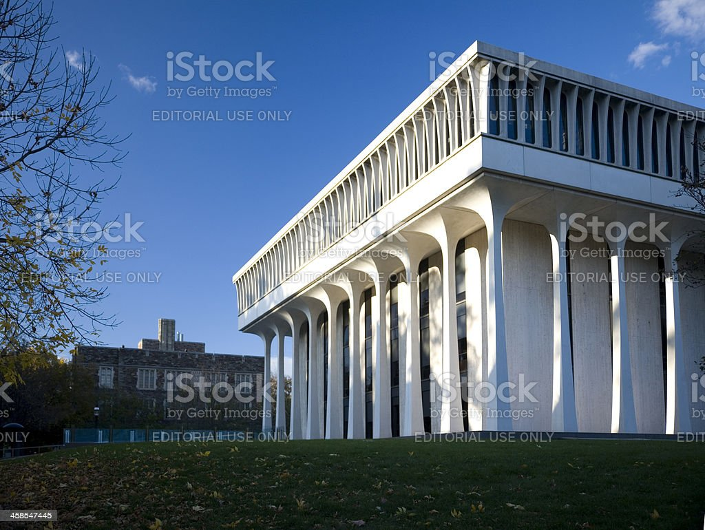 Robertson Hall, Princeton, NJ stock photo