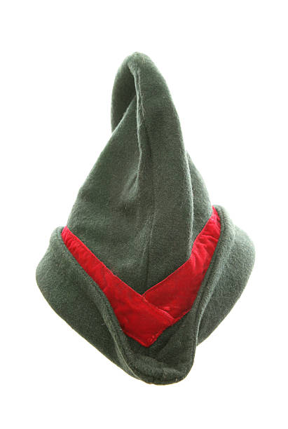 robin hood fancy dress hat robin hood fancy dress hat cutout peter pan stock pictures, royalty-free photos & images