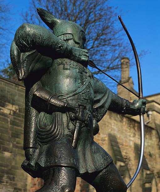 Robin Hood-Statue Nottingham. – Foto