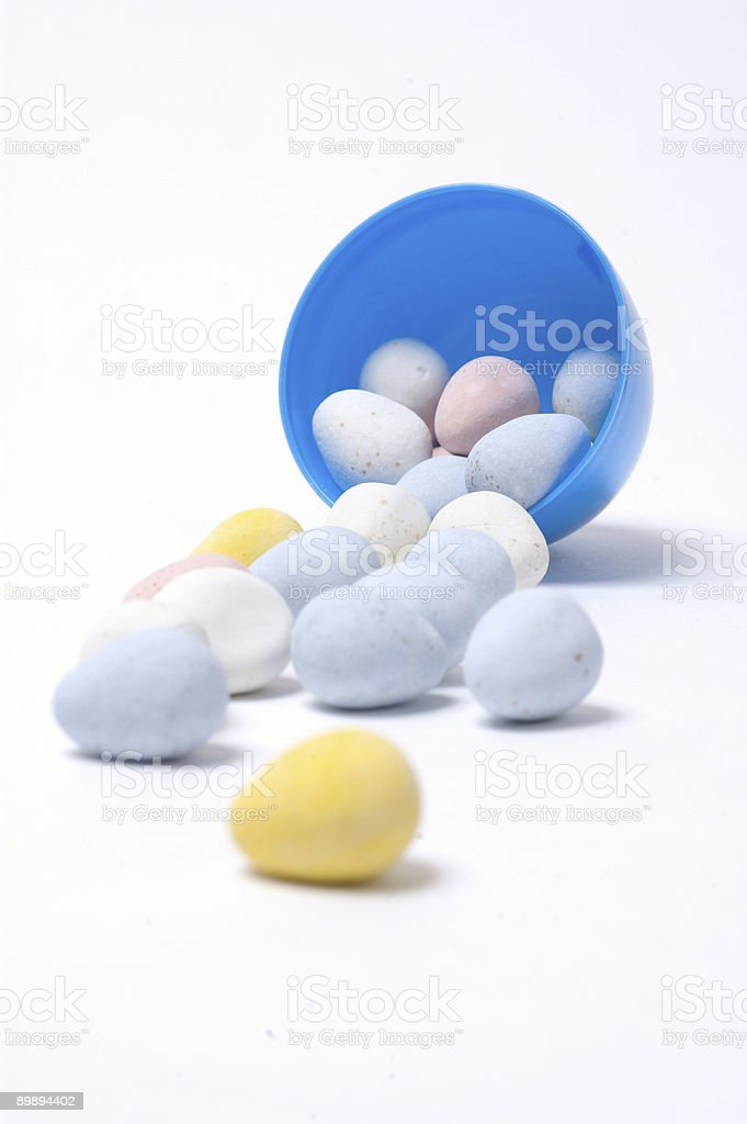 Robins Eggs in an Egg royalty-free stock photo