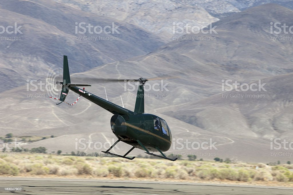 Robinson R-44 helicopter royalty-free stock photo