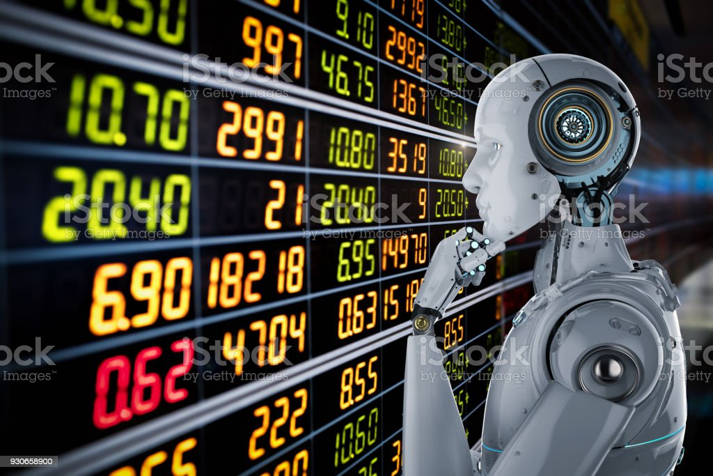 robot analyze stock stock photo