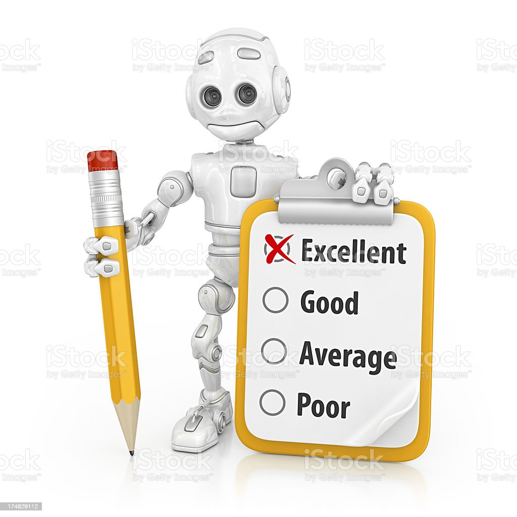 robot and form royalty-free stock photo