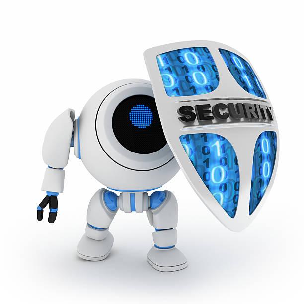 Roboter und shield – Foto